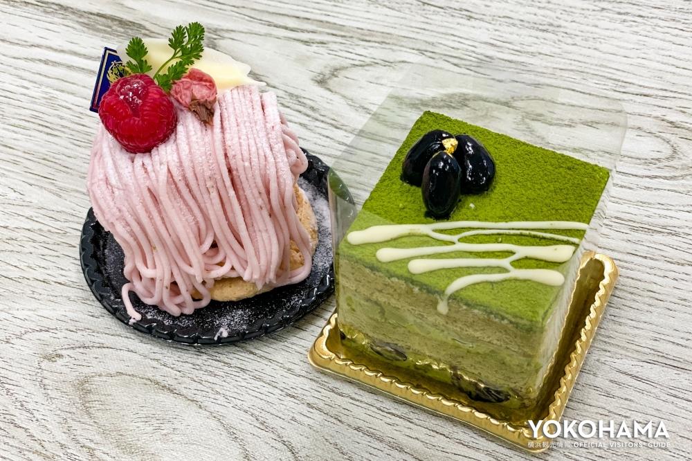 「桜モンブラン」と「プレミアム抹茶ショートケーキ」