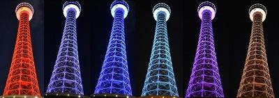 ラグビーワールドカップ 2019™開幕1年前キャンペーン「横浜マリンタワー特別ライトアップ」